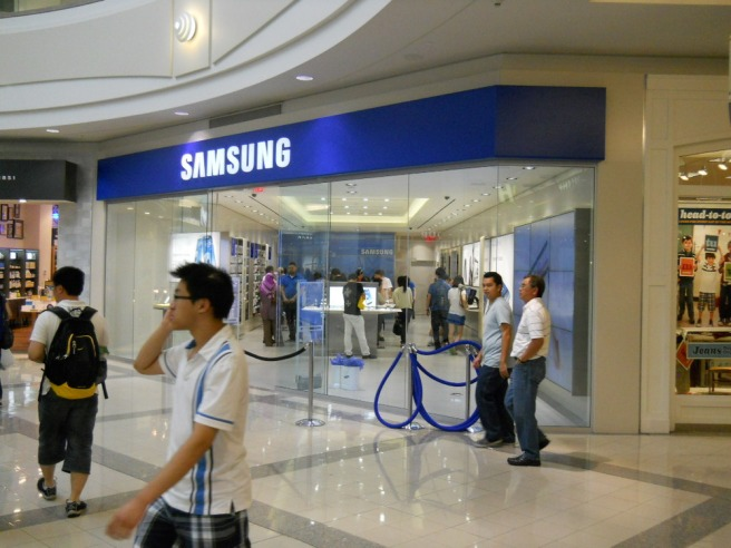 Samsung store in the Metrotown Mall